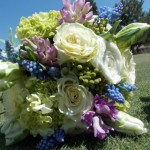 Pink White Blue Accent | Wedding Flowers