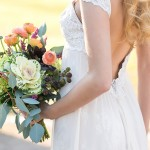 Sage & Peach Bridal Bouquet
