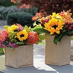 Burlap Vase Fall & Autumn