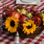Country Centerpiece with Sunflowers