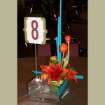 Event Centerpiece Bubble Bowl with Tulips & Lilies