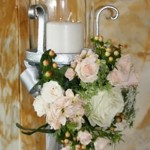 Candle Stand Pink & White | Wedding Flowers