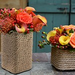 Rope Vase Centerpieces Event Flowers