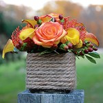 Rope Vase Event Flowers