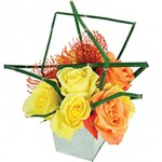 Tin Square Vase Event Flowers