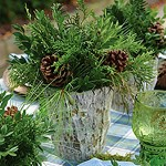 Weathered Oak Holiday Event Flowers