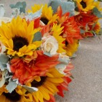 Sunflowers Roses Dahlias | Wedding Flowers