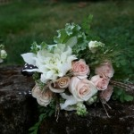 Romantic Dahlias Roses Snowberries | Wedding Flowers