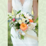 Bridal Bouquet Orange & Cream