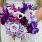 Bridal Bouquet Shades of Purple