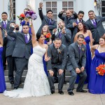 Orange & Purple Wedding Flowers